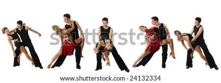 The young couple dances the Latin American dance - stock photo