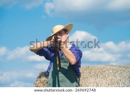 The young hunter - stock photo