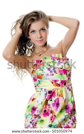 The young sensual woman with beautiful hair