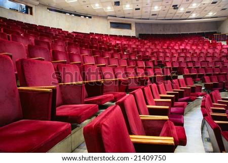 Theater armchair - stock photo
