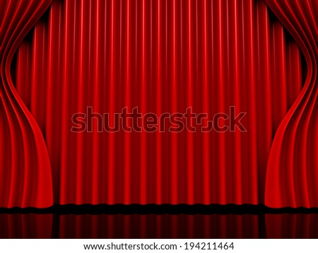 theater curtain - stock photo