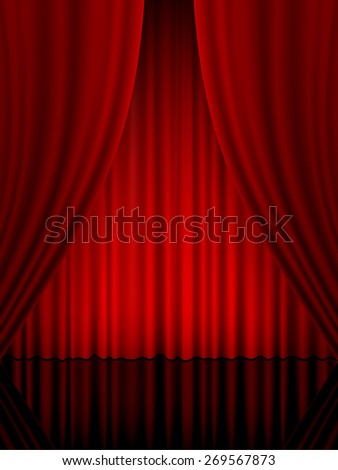 theater curtain vertical illustration.
