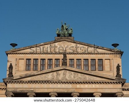 Theater in Berlin detail of the facade