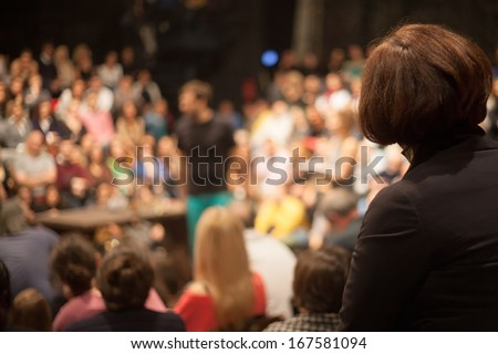theater performance - stock photo