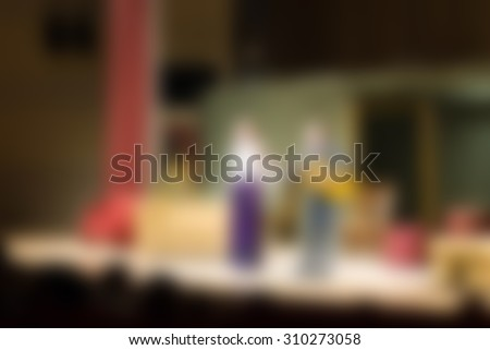 Theater performance theme creative abstract blur background with bokeh effect - stock photo