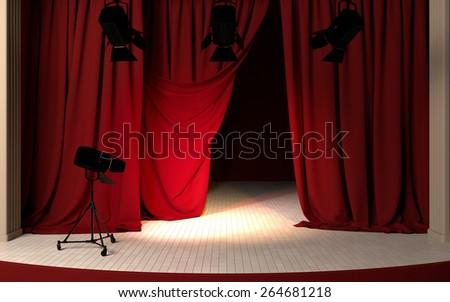 theater scene - stock photo