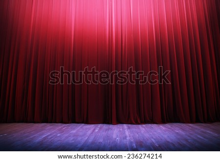 theater scene, illuminated - stock photo
