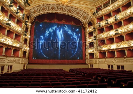 Theater Stage - stock photo