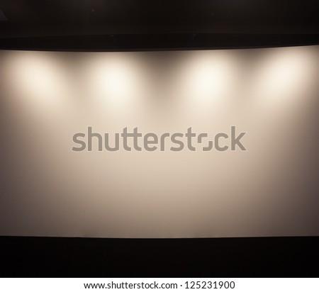 theater white screen - stock photo