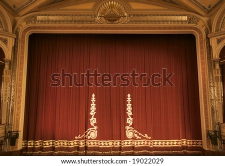 theatre before curtain up