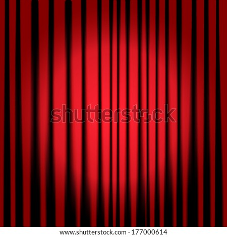 Theatre curtains - stock photo