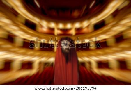 Theatre performance concept blurred - stock photo