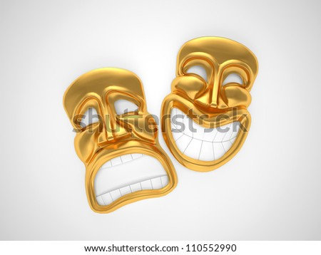 theatrical mask with a smile