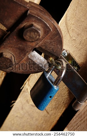 Theft in basement - stock photo