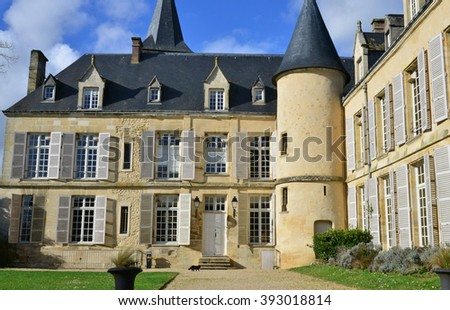 Themericourt, France - february 2 2015 : the castle in winter