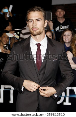 "Theo James at the Los Angeles premiere of ""Divergent"" held at the Regency Bruin Theatre in Los Angeles, USA on March 18, 2014."