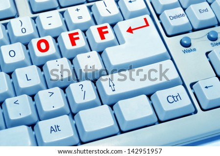 theOFF button experience of computer keyboard
