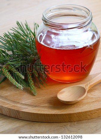 Therapeutic jam made �¢??�¢??from green young pine buds