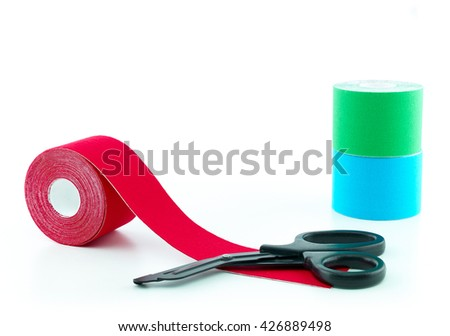 Therapeutic self adhesive tape for, aches and tension. It is also used for prevention and treatment in competitive sports.