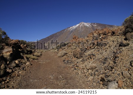 There are perfect walking possibilities in Teide National Park
