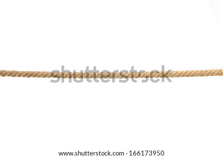 There is a isolated rope in the image - stock photo