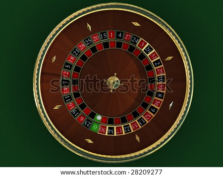 There is a roulette for casino - stock photo