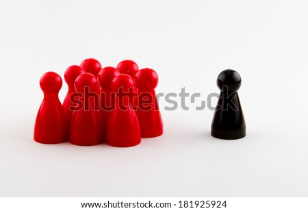 there is always someone thats different - stock photo