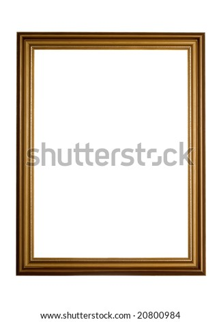 There is antique brown frame for picture