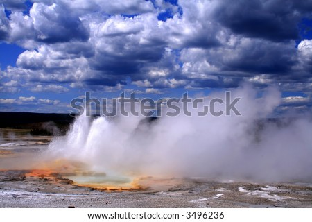 Thermal activity in Yellowstone National Park, Wyoming