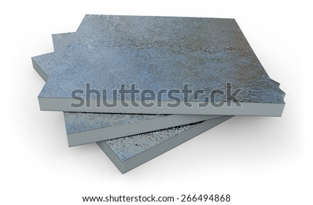 Thermal insulation panel isolated on white - stock photo