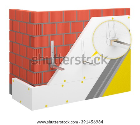 Thermal insulation system - air conditioning installation - stock photo