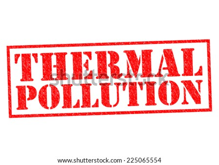 THERMAL POLLUTION red Rubber Stamp over a white background. - stock photo