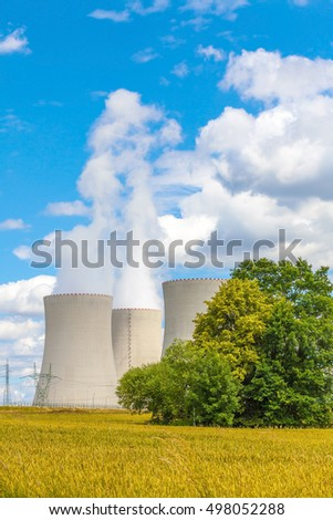 Thermal power plant and blue sky