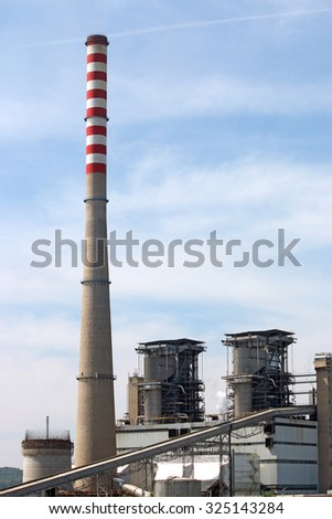 thermal power plant industry - stock photo