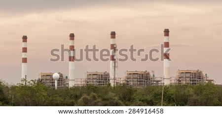 Thermal power plant, location in thailand.