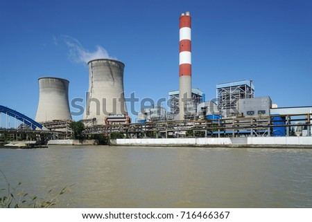 Thermal power plant stack