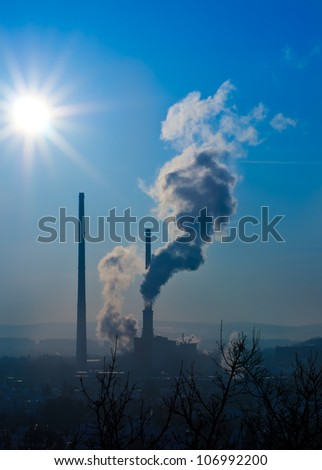 Thermal power station in Jena, Thuringia, Germany