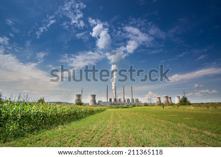 Thermal power station - Turceni, Romania - stock photo