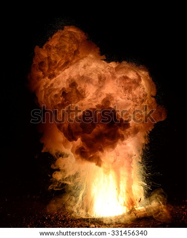 Thermite explosion- high speed exposure.