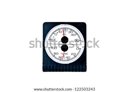 Thermo- and hygrometer isolated on white background