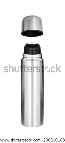 Thermo flask isolated - stock photo