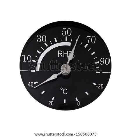 Thermo-hygrometer isolated on white background