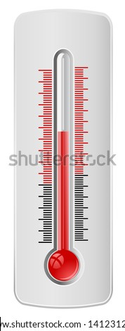 thermometer icon - stock photo