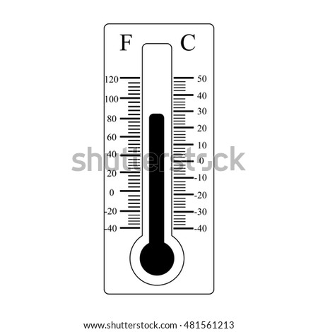 Thermometer icon. Weather sign. Silhouette illustration