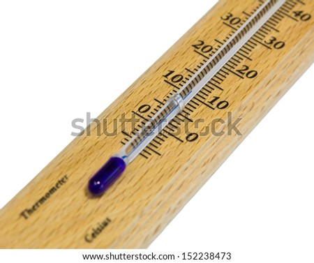 Thermometer isolated on white background.
