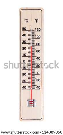 Thermometer isolated on white with paths.
