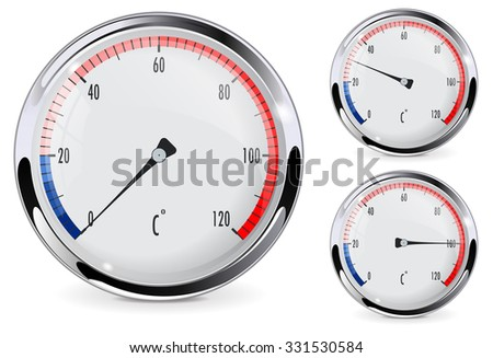 Thermometer . Raster version. Illustration isolated on white. - stock photo