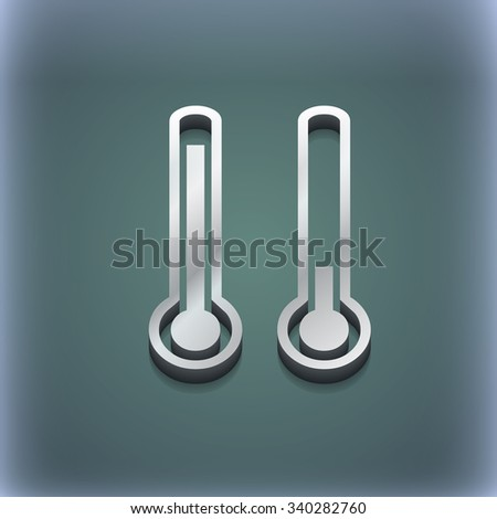 thermometer temperature icon symbol. 3D style. Trendy, modern design with space for your text illustration. Raster version - stock photo
