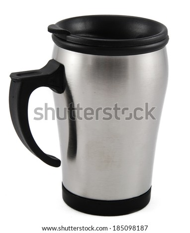 Thermos cup isolated on white background