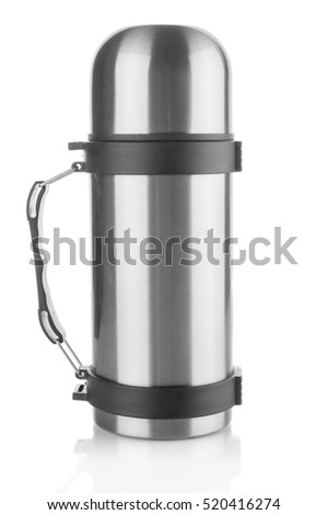 Thermos flask isolated on white background